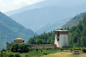 Dobji Dokar Dzong Fortress in Bhutan