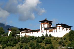 Jakar Dzong Fortress in Bhutan