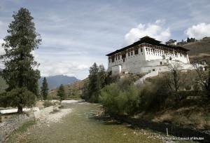 Paro Rinpung Dzong Fortress in Bhutan
