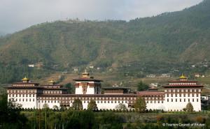 Tashichho Dzong Fortress in Bhutan