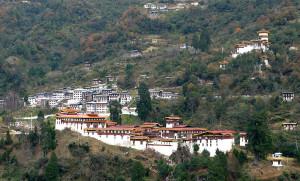 Trongsa Dzong Fortress in Bhutan